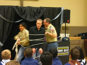 Pennsylvania Magician Eddy Ray Scout Magic Show